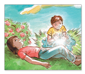 Healing energy example of children