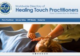 Worlwide Directory of Healing Touch Practioners website navigation Screen Shot